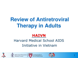When to Start  ARV Therapy in Adults