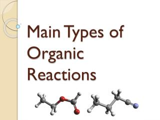 Main Types of Organic Reactions