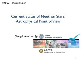 Current Status of Neutron Stars: Astrophysical Point of View
