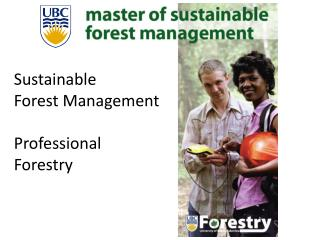 Sustainable Forest Management Professional  Forestry