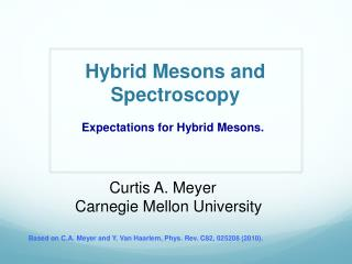 Hybrid Mesons and Spectroscopy