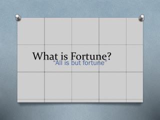 What is Fortune?