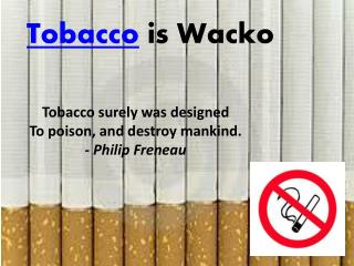 Tobacco  is Wacko