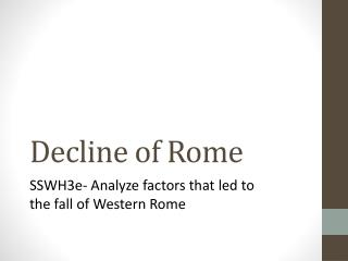 Decline of Rome