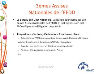 3èmes Assises Nationales de l'EEDD