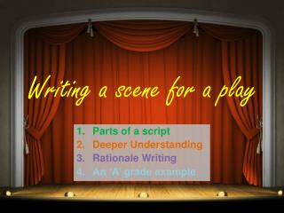 Writing a scene for a play