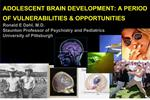 ADOLESCENT BRAIN DEVELOPMENT: A PERIOD OF VULNERABILITIES  OPPORTUNITIES  Ronald E Dahl, M.D. Staunton Professor of Psyc