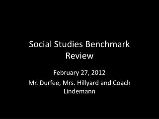 Social Studies Benchmark  Review