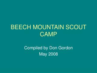 BEECH MOUNTAIN SCOUT CAMP