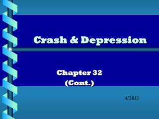 Crash & Depression