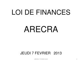 LOI DE FINANCES