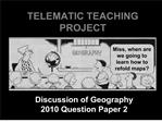 TELEMATIC TEACHING PROJECT