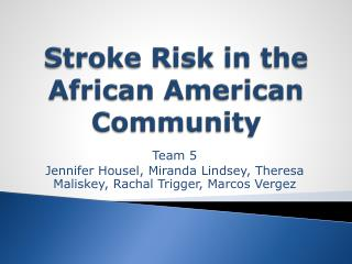 Stroke Risk in the African American Community