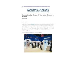 Samsungimaging Shows off the latest Cameras at KES2011