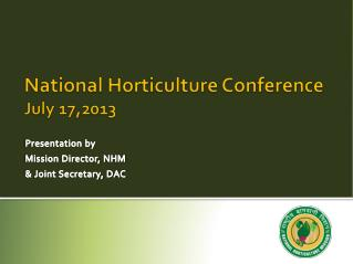 National Horticulture Conference July 17,2013