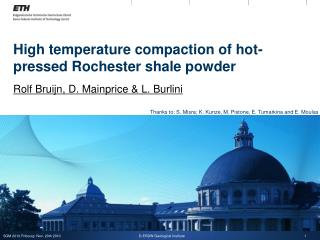 High temperature compaction of hot-pressed Rochester shale powder