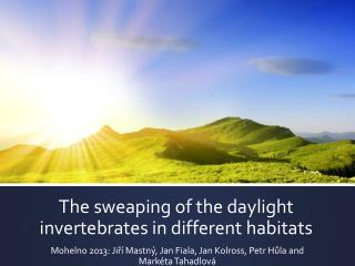 The sweaping of the daylight invertebrates  in  different habitats