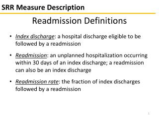 SRR Measure Description