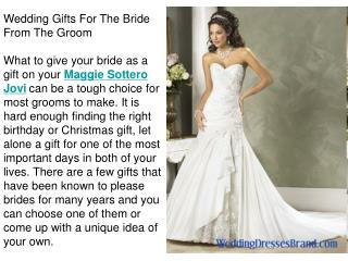 Wedding Gifts For The Bride From The Groom