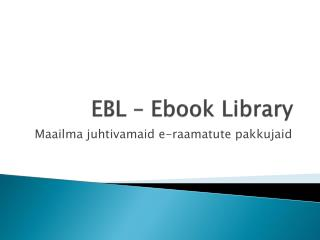 EBL – Ebook Library