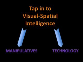 Tap  in to Visual-Spatial Intelligence