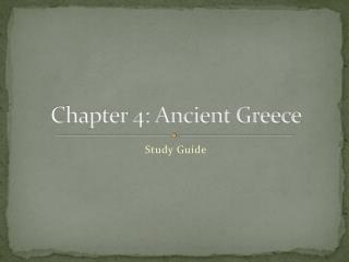 Chapter 4 : Ancient Greece
