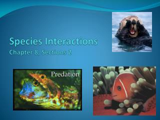 Species Interactions Chapter 8, Sections 2