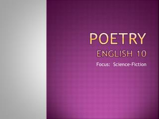 Poetry English  10