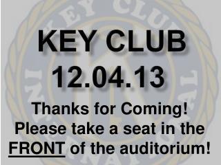 Key Club 12.04.13
