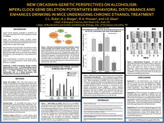 New circadian-genetic perspectives on alcoholism: