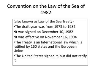 Convention on the Law of the Sea of 1982