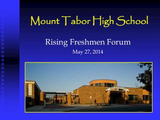 Mount Tabor High School