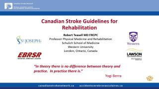 Canadian Stroke Guidelines for Rehabilitation
