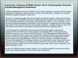 Corcentric to Release COR360 Version 10.2.0, Featuring New A
