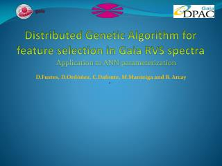 Distributed Genetic Algorithm for feature selection  in  Gaia  RVS  spectra