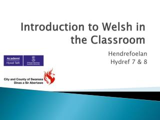 Introduction to Welsh in the Classroom
