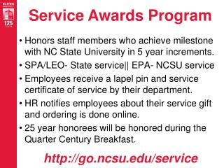 Service Awards Program