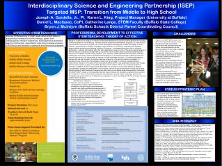 Interdisciplinary Science and Engineering Partnership (ISEP)