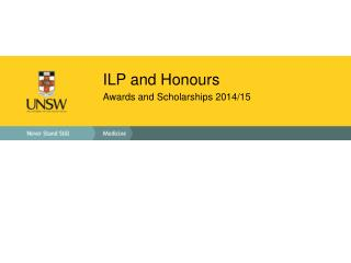 ILP and  Honours