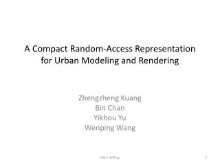 A Compact Random-Access Representation for Urban Modeling and Rendering