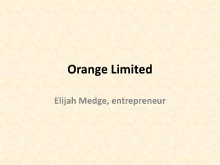 Orange Limited Nashville
