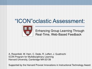 """ICON""oclastic Assessment:"