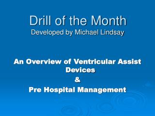 Drill of the Month