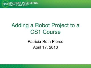 Adding a Robot Project to a CS1 Course