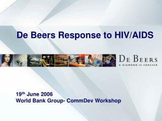De Beers Response to HIV