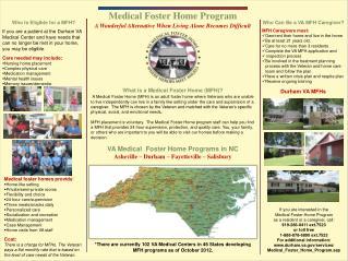 Medical Foster Home Program