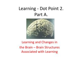 Learning - Dot Point 2. Part A.