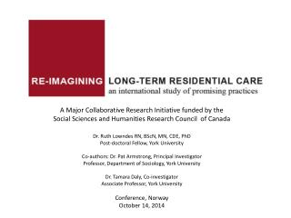 Food  in Long-term  Care:  How is Dining Socially Organized to Enhance Resident Quality of Life?