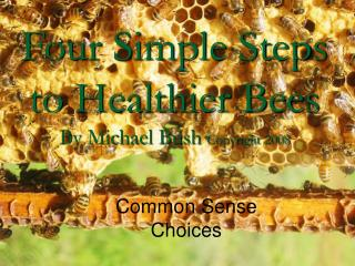 Four Simple Steps to Healthier Bees By Michael Bush  Copyright 2008