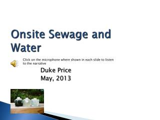 Onsite Sewage and Water